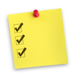 completed checklist